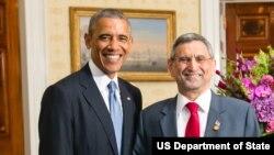 Barack Obama e Jorge Carlos Fonseca