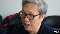 中國政治轉型學者張博樹(美國之音宋德成拍攝)