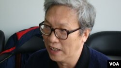 中国政治转型学者张博树(美国之音宋德成拍摄)