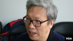 张博树 中国政治转型学者(美国之音 宋德成拍摄)