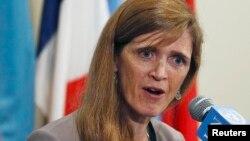 La embajadora de Estados Unidos en la ONU, Samantha Power, sotuvo que su país preferiría el apoyo de la ONU en un posible ataque a Siria, aunque aseguró que Rusia lo impide.