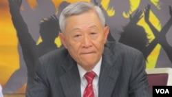 淡江大学大陆研究所教授赵春山(美国之音张永泰拍摄)