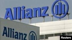 德国最大保险公司安联集团的徽标在其慕尼黑总部前。(资料照片)