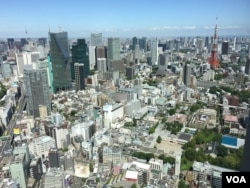 The skyline of Japan's capital, Tokyo. (S. Herman/VOA)