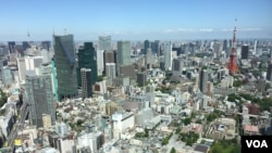 FILE - The skyline of Japan's capital, Tokyo. (S. Herman/VOA)