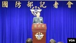 台湾国防部发言人罗绍和少将。 (照片来源:美国之音记者李逸华)