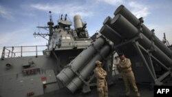На борту корабля ВМФ США, оборудованного системой Aegis