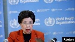 마가렛 찬 세계보건기구 사무총장이 1일 스위스 제네바에서 지카 바이러스에 관한 긴급 기자회견을 하고 있다.