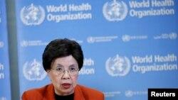 마가렛 찬 세계보건기구 사무총장이 지난 2월 지카 바이러스에 관한 긴급 기자회견을 하고 있다. (자료사진)