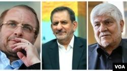 محمد هاشمی، اسحاق جهانگیری و محمد باقر قالیباف