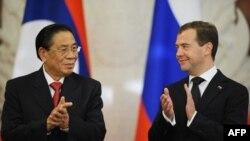 Тюммали Сайнясон и Дмитрий Медведев