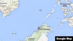 馬來西亞婆羅洲納閩島地理位置示意圖