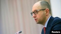FILE - Ukrainian Prime Minister Arseniy Yatsenyuk