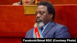 L'ancien président de la RDC Joseph Kabila a pris son siège de Sénateur à vie à la rentrée parlementaire à Kinshasa, 15 septembre 2020. (Facebook/Sénat RDC)