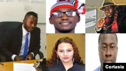À esquerda, Dr. Issau Agostinho, Dr. Chibueze Ofobuike, Dr. Christopher J. Bitouloulou, Dra. Ana Magdalena Figueroa e o Dr. Mark A. Anyorikeya