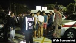 Cảnh sát Thái Lan hôm 26/2 đã bắt một nhóm 10 người Nga vì làm việc không phép tại thành phố biển Pattaya. (Ảnh: Chiang Rai Times)