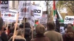 2012-11-18 美國之音視頻新聞: 以巴衝突引發歐洲多國城市示威