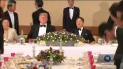 Президент та перша леді Трамп зустрілися з імератором Нарохіто та його дружиною в Японії. Відео