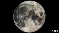 FILE - The Galileo spacecraft sent back this image of the Moon as it headed into the outer solar system.