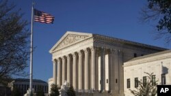 FILE - The U.S. Supreme Court building is seen in Washington, April 4, 2017.
