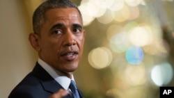 FILE - President Barack Obama speaks during a news conference.