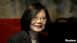 台湾总统蔡英文(2018年8月14日资料照片)
