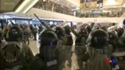 香港沙田反送中遊行結束後爆發嚴重警民衝突