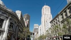 Downtown San Francisco, California, April 5, 2016. (M. O'Sullivan/VOA)