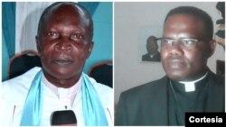 À esquerda, Reverendo Aleluya e Padre Daniel Malamba