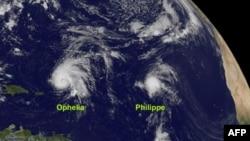 Bão Ophelia sắp thổi qua mạn đông Bermuda
