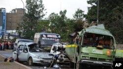 Hiện trường sau vụ nổ tại Nairobi, Kenya, ngày 14/12/2013.
