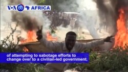 VOA60 Africa- SudanTMC accuses supporters of ousted President of attempting to sabotage change over to civilian-led government.