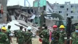 吊車開始清理孟加拉倒塌大廈