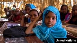 Des enfants dans une école de Diffa, janvier 2014.