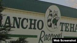 美国加利福尼亚州北部特哈马牧场的牌子(特哈马牧场小学网站截图)