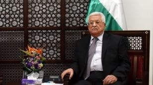 FILE - Palestinian President Mahmoud Abbas in Ramallah, West Bank, March 9, 2016.