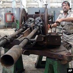 An anti-aircraft gun will be jerry-rigged atop a tank, Benghazi, June 23 , 2011