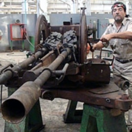 An anti-aircraft gun will be jerry-rigged atop a tank, Benghazi, June 23 , 2011