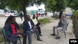 Ayiti: 4 senatè opozisyon yo: Senatè Nenel Cassy, Antonio Chéramy, Evalière Beauplan, Ricard Pierre Foto: 30 me 2019.