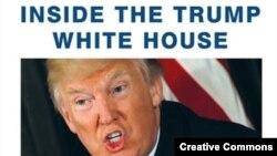 """Fotografija naslovne strane knjige """"Vatra i bes: unutar Trampove Bele kuće"""""""