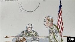 Bức phác họa một phiên tòa xử nghi can Jeremy Morlock