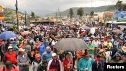 Masu zanga zanga a Guatemala