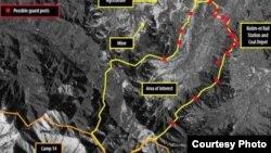 영국 런던에 본부를 둔 국제인권단체 앰네스티 인터내셔널이 공개한 북한 14호 개천관리소의 최근 위성사진. 디지털글로브 촬영.