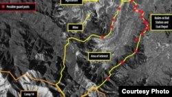 영국 런던에 본부를 둔 국제인권단체 앰네스티 인터내셔널이 공개한 북한 14호 개천관리소의 올 초 위성사진. 디지털글로브 촬영.