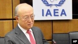 아마노 유키야 IAEA 사무총장이 3일 오스트리아 빈에서 열린 이사회에 참석했다.