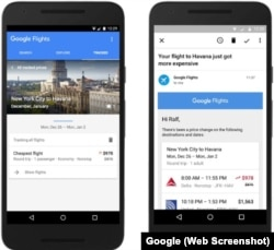 Google Flights Email