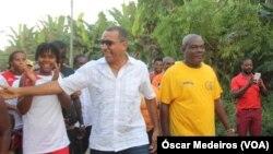 Carlos Vila Nova (cen), candidato presidencial, São Tomé e Príncipe