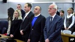 Љубе Бошкоски во 2011-та, на изрекувањето на претходната казна по обвинението за незаконско финансирање на својата партија