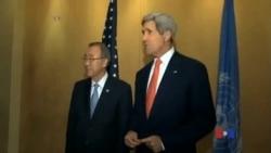 2014-07-22 美國之音視頻新聞: 潘基文、克里敦促以色列哈馬斯停火