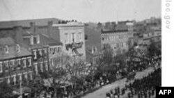 华盛顿为林肯出殡的队伍